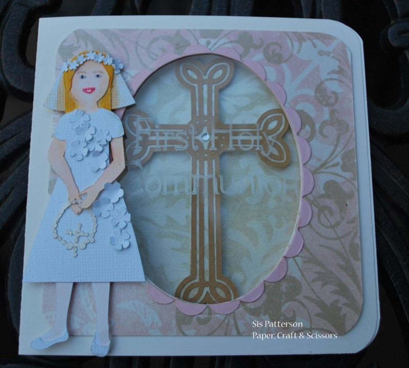 First holy communion card paper craft scissors for First communion craft ideas