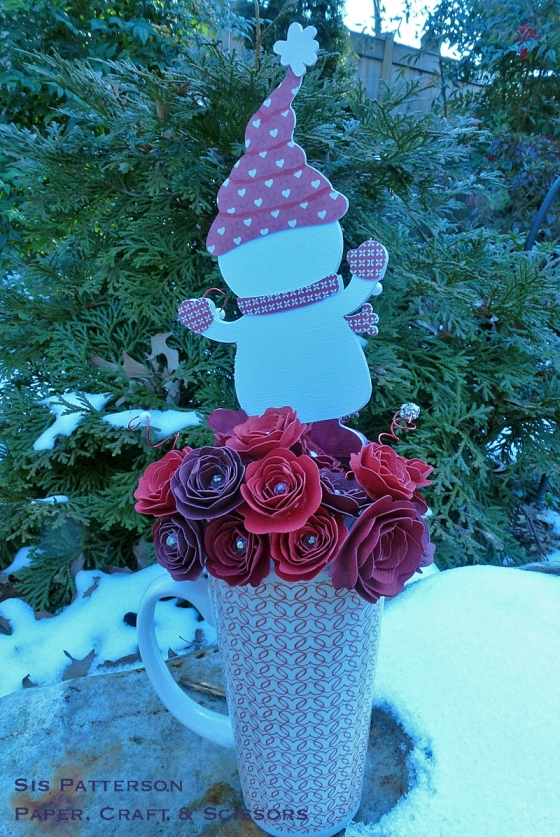 Cricut Valentine Bouquet - Back