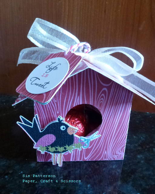 3d Bird House Favor Box Assembled