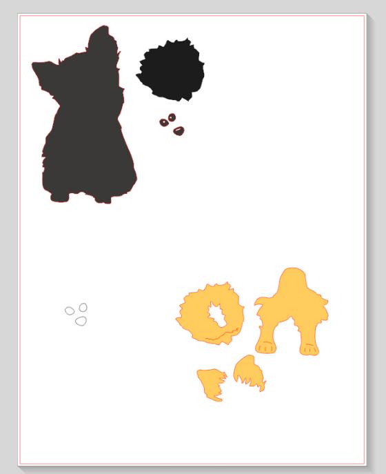 Silhouette Yorkie Puppy